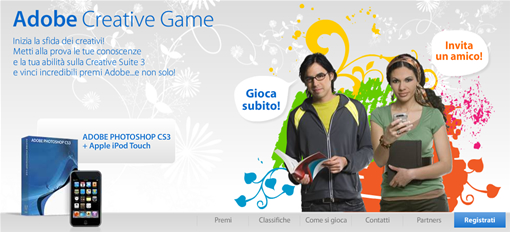 Adobe Creative Game: Vinci fantastici premi