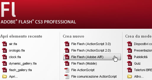 Creare applicazioni AIR con Adobe Flash CS3