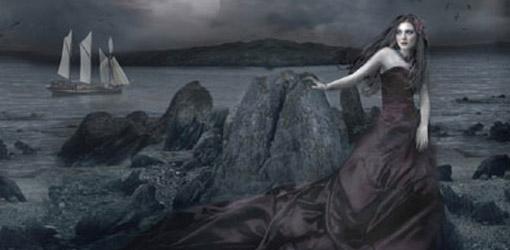 Dark Princess of the Seashore Wallpaper