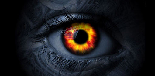 Fiery Eye wallpaper