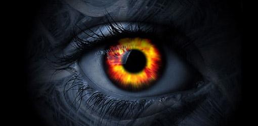 Fiery Eye wallpaper