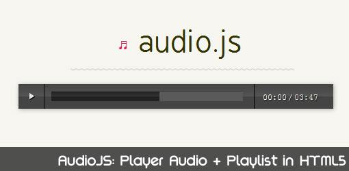 AudioJS: Player Audio Mp3 in HTML5 + Playlist – JuliusDesign
