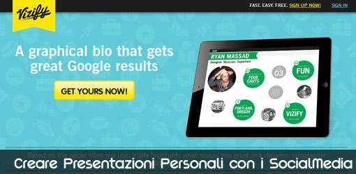 Vizify creare presentazioni personali con i social media for Come creare i miei progetti personali