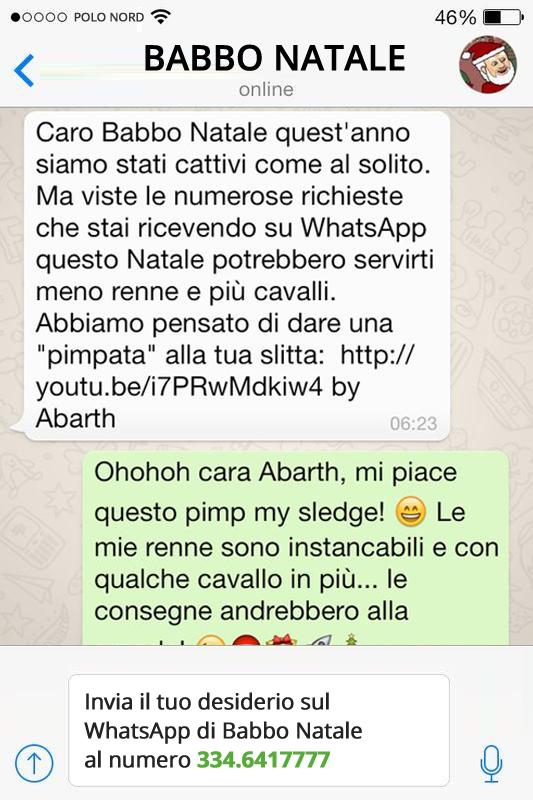 abbastanza Auguri di Buone Feste con Babbo Natale su WhatsApp – JuliusDesign YX25