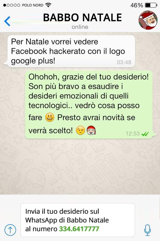 Babbo Natale Whatsapp.Auguri Di Buone Feste Con Babbo Natale Su Whatsapp Juliusdesign
